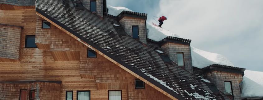 ski sur les toits